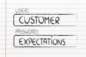 user and password: concept of how a customer represents a set of expectations